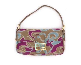 3b075b5db548 Authentic Fendi Vintage Multicolor Baguette Bag