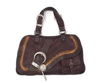 34cbac1677ca Authentic Christian Dior Gaucho Double Saddle Bag