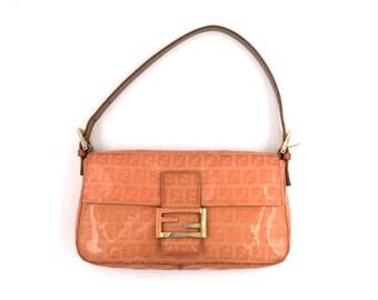 cba678605d0a Authentic Vintage Fendi Coated Canvas Baguette Bag