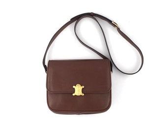 d204d74c1436 Authentic Celine Vintage TRIOMPHE Classic crossbody bag
