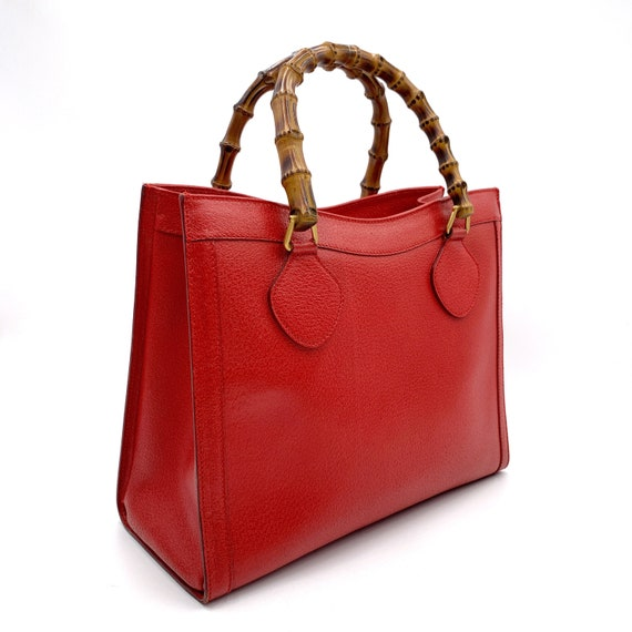 Authentic Gucci Vintage Red Leather Princess Dian… - image 2