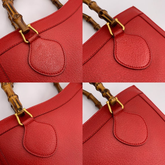 Authentic Gucci Vintage Red Leather Princess Dian… - image 7