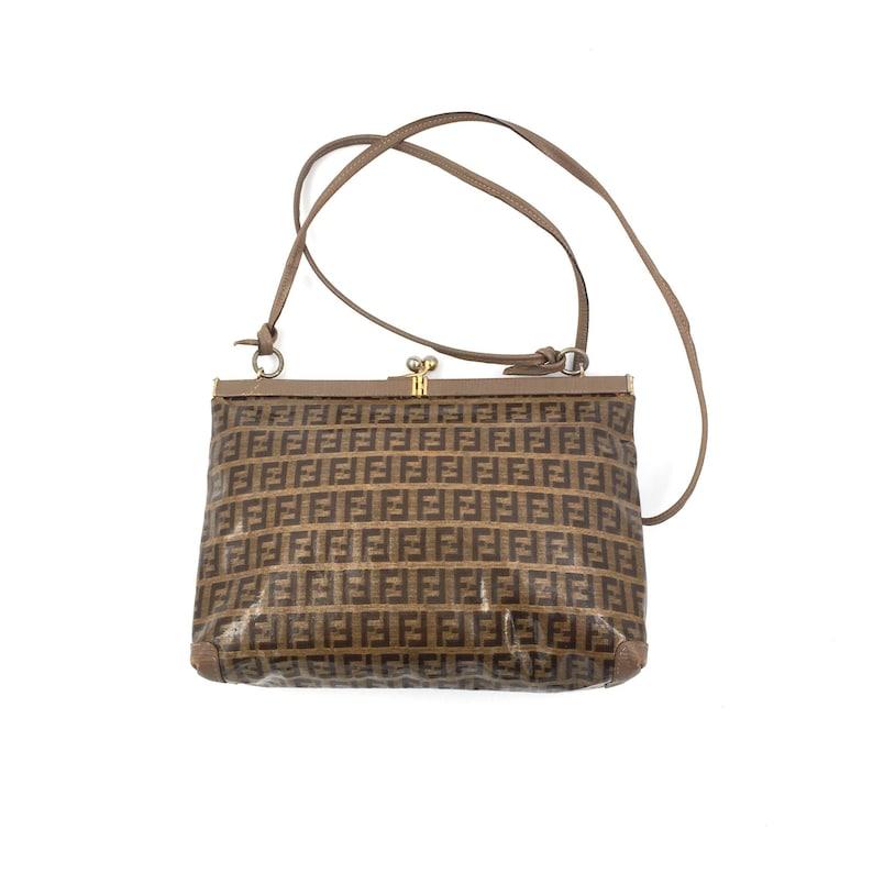 c64155fc4f75 Authentic Vintage Fendi Zucca crossbody bag