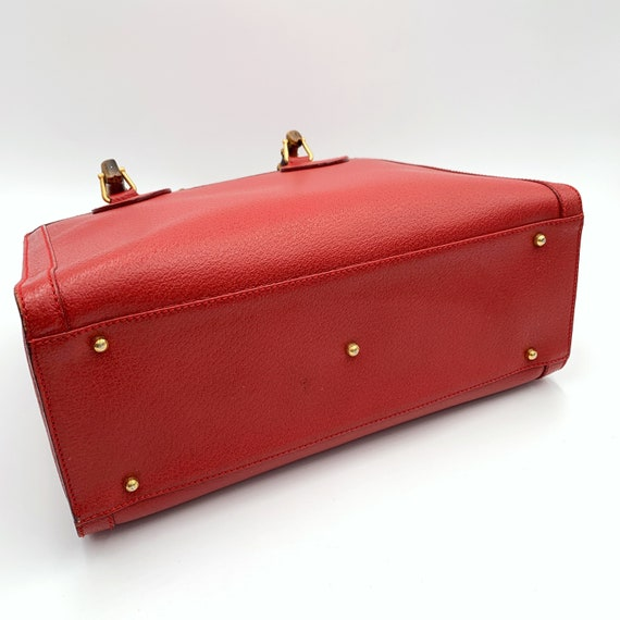Authentic Gucci Vintage Red Leather Princess Dian… - image 4