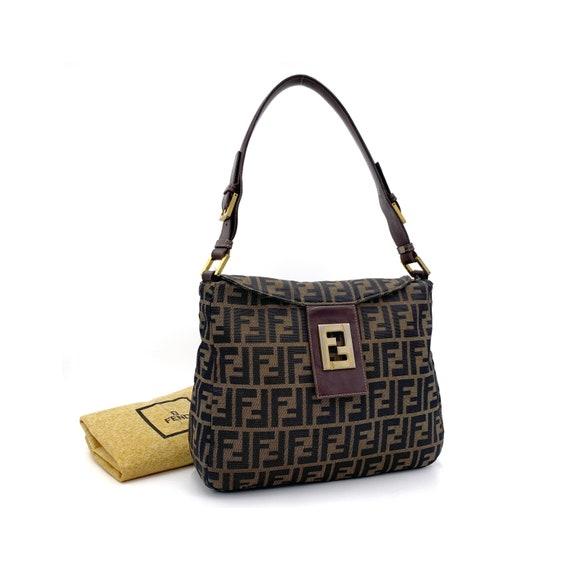 Authentic FENDI Vintage Zucca Shoulder Bag