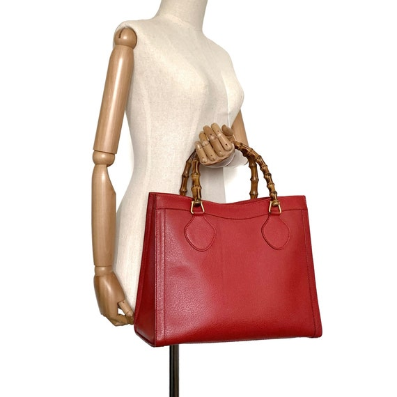 Authentic Gucci Vintage Red Leather Princess Dian… - image 5