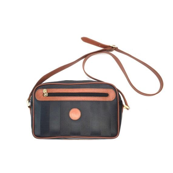 Authentic Vintage Fendi stripe crossbody bag   Etsy 0d4649cb15