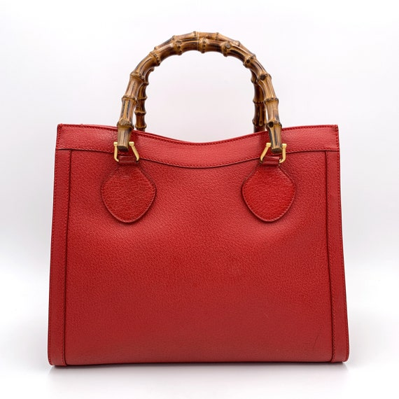 Authentic Gucci Vintage Red Leather Princess Dian… - image 3