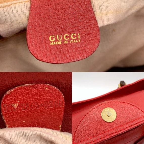 Authentic Gucci Vintage Red Leather Princess Dian… - image 10