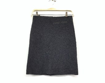 b567a45ea8 Fendi Rome Wool Fleece Women Short Skirt / Fashion Style / High Brands /  Luxury Wear / Italian Fashion / Top Brands / Small Size