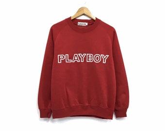 8db20c1074ea Playboy Crewneck Sweatshirt Embroidery Big Logo Spell Out Pullover Fashion  Style / Top Brands / Streetwear / Medium Size / Urban Fashion