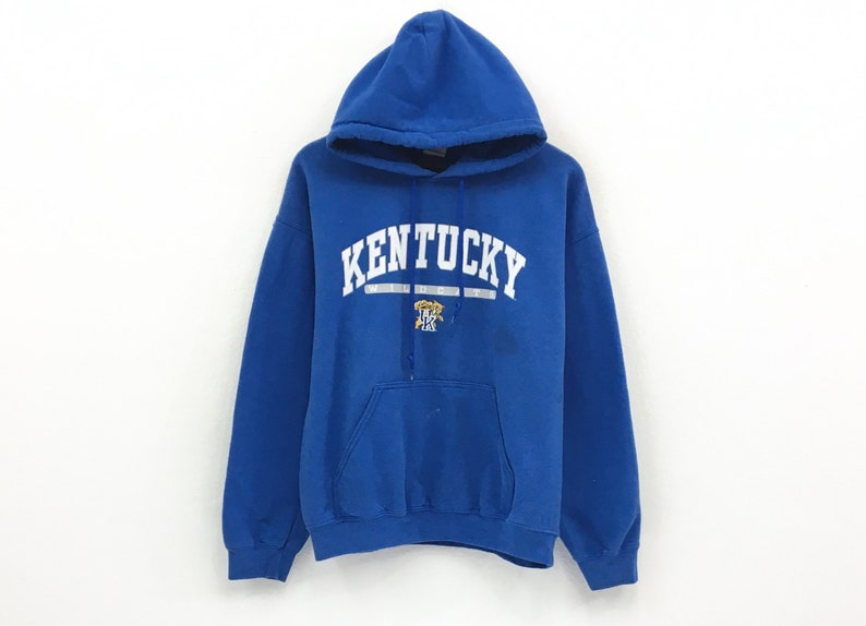 best sneakers cc6bc ceb16 Rare Kentucky Wildcats Hoodie Jumper Big Print Spell Out Logo   Etsy
