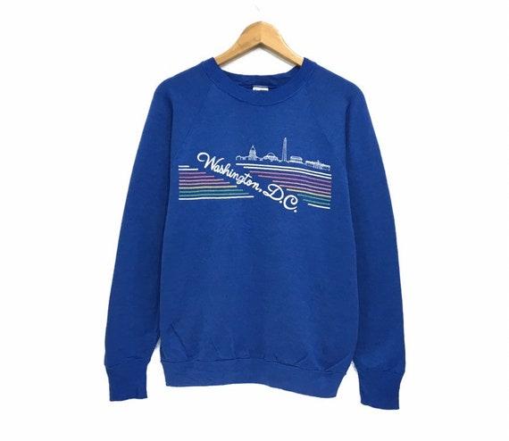 Vintage 90s Washington DC Crewneck Sweatshirt Rain