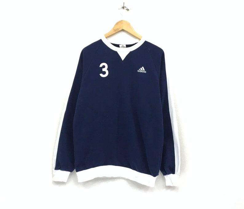 1e1e45e72d23b Adidas Crewneck Sweatshirt Jumper Embroidery Small Logo Pullover Sportswear  / Streetwear / Hip Hop Style / Medium Size