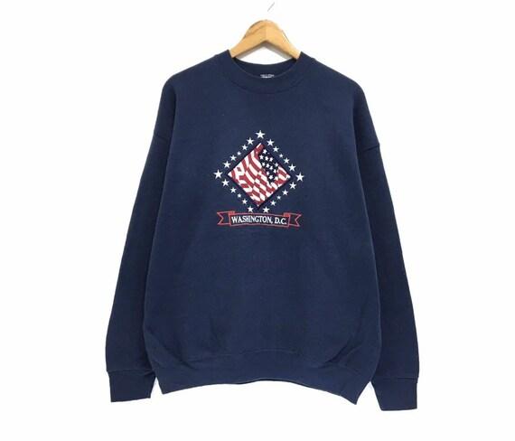 Vintage 90s Washington DC Crewneck Sweatshirt Big