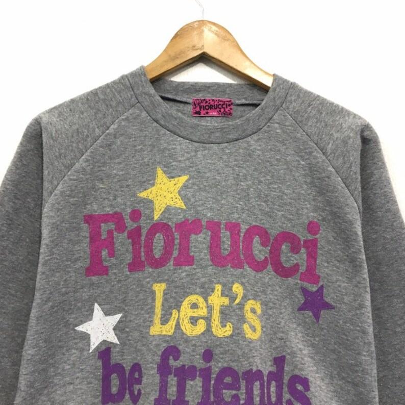 Fiorucci Crewneck Sweatshirt Big Logo Spell Out Pullover  Fashion Style  High Fashion  Streetwear  Small Size  Urban Fashion