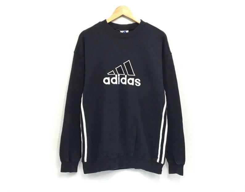 dba716af45dcc Adidas Equipment Crewneck Sweatshirt Jumper Big Logo Print Pullover  Sportswear / Streetwear / Hip Hop Style / Fashion Style / Medium Size