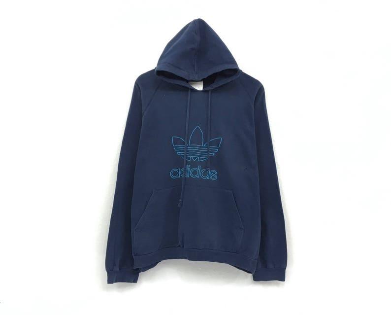 dac981e9930c9 Adidas Hoodie Sweatshirt Jumper Embroidery Big Logo Pullovers Sportswear /  Streetwear / Hip Hop Style / Urban Fashion / Medium Size