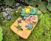 Sleepy Succulent Babies - Tropical Garden Pikachu (ピカチュウ) Yellow Gameboy Color Pokemon Terrarium