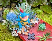 Croconaw (アリゲイツ Alligates) Ruby Red Gameboy Color Succulent Planter Pokemon Terrarium