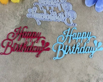happy birthday balloons cake letter card decor metal cutting dies scrapbooking new 2018 die cut stamps embossing stencils