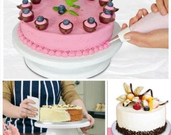 Rotating Cake Stand Etsy