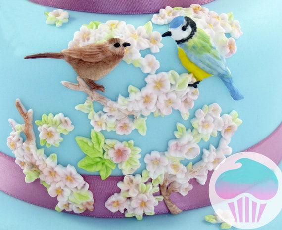 Valentinstag Vogel Und Blume Silikonform Fondant Form Kuchen Etsy