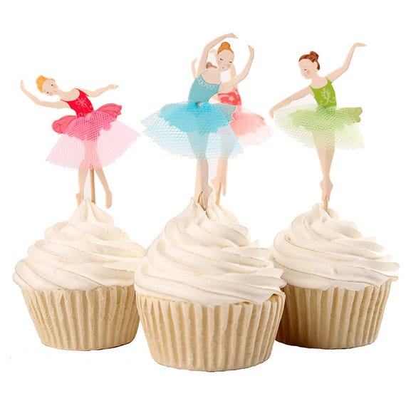 72pcslot Ballet Dancer Girl Design Cupcake Topper Cake Etsy