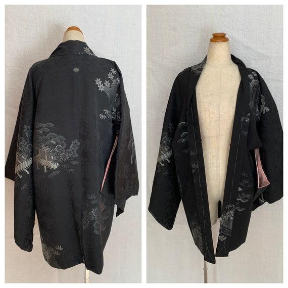 Black and silver haori dress jacket