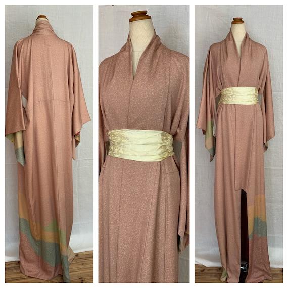 Pink Silk kimono silk robe