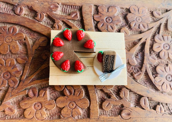 Small Food Magnet Miniature Red Velvet Cake Refrigerator Magnet Kitchen Magnet Cute Clay Magnet