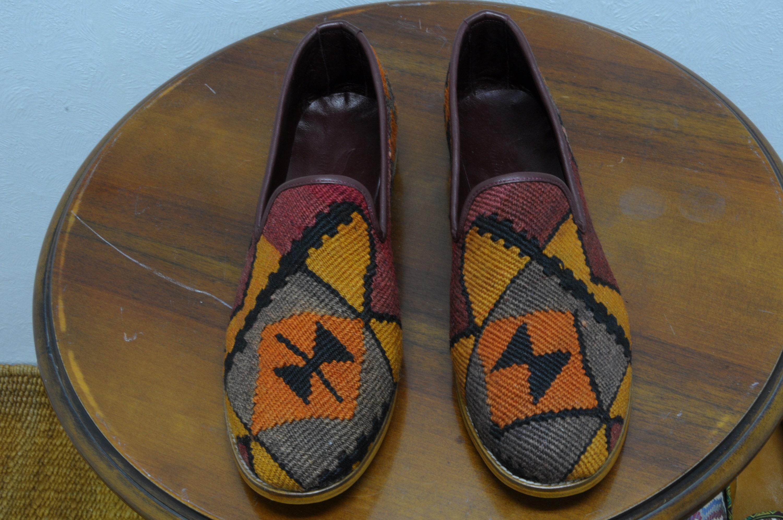 handmade kilim 46-eu (12-us) chaussures uniques (homme) 0195 - 0195 (homme) 19759e