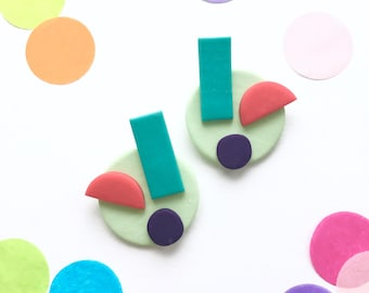 Color Shapes Studs earrings