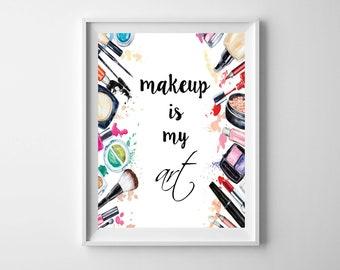 Salon Decor, Makeup Decor, Makeup Vanity Decor, Beauty Room Decor