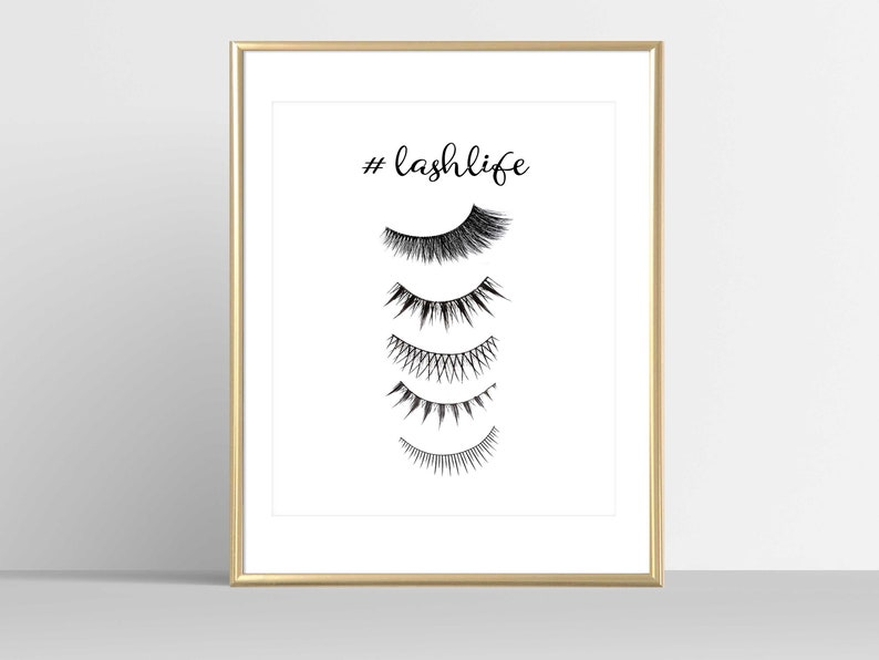 468e257af05 Eyelashes Print Lashes Studio Decor Lashes Print Lashes Quote | Etsy