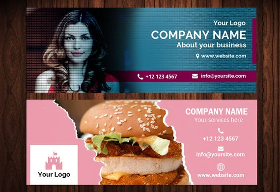 Custom Design Facebook Cover Photoshop Template Modern Cover Photographers Facebook Branding Photo Template