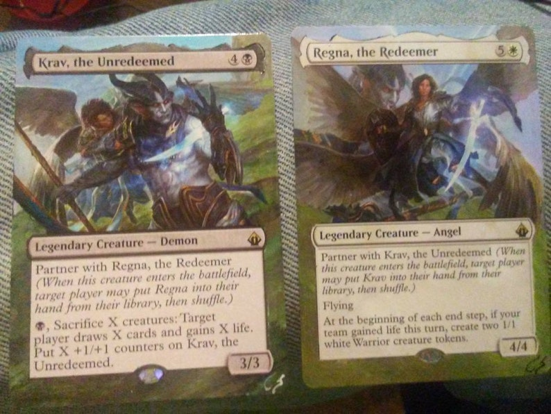 Hand Painted Mtg Krav The Unredeemed And Or Reyna The Etsy
