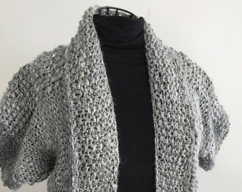 New Homemade Silver Short Sleeve Jacket Cozy and attractive