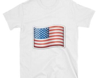 0a40c50185e2b American Flag Emoji T-Shirt