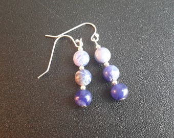 Sterling Silver Sodalite Earrings