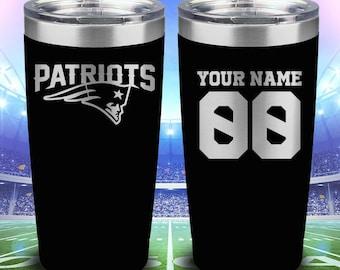 43570d75a96 New England Patriots 20oz Laser Engraved Tumbler PATRIOTS