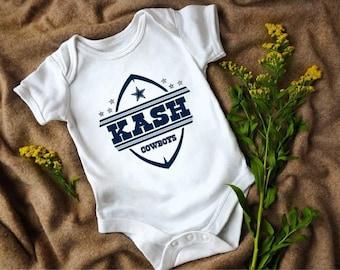 24ef329d3da2b9 Baby bodysuit onesie Cowboys Football Name Design Toddler Tshirt Dallas  Cowboys