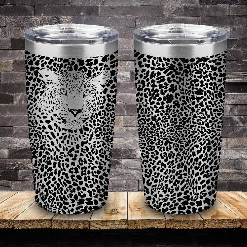 Leopard Print With Hidden Leopard 20oz Tumbler Laser Engraved Etsy