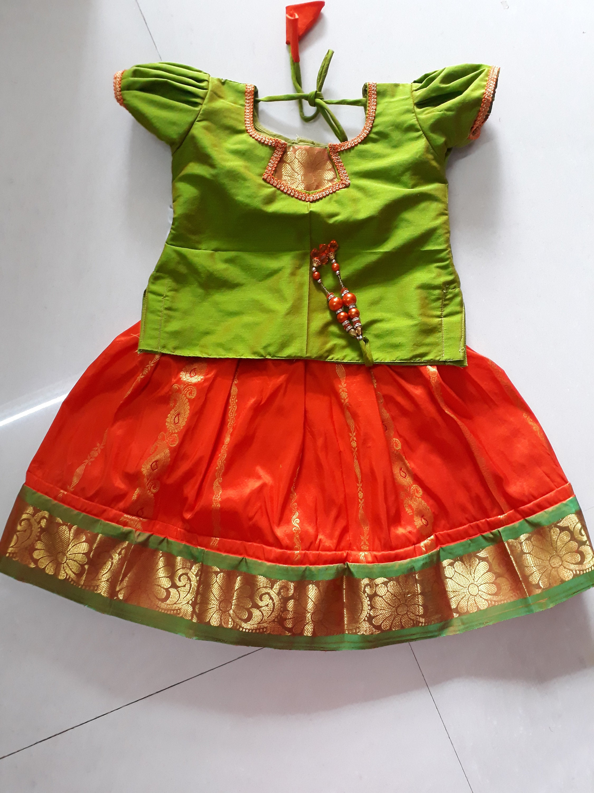 65d623c82a Baby girl dress India silk frock infant dress party