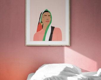 Gaza Woman Wall art