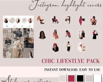 Instagram Story Highlight Icons  - Instagram Story Covers -  red instagram icon,  lifestyle  - Beauty - Highlights