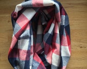 Checkered Infinity Scarf,...