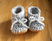 Marble Grey Knit Slipper ...