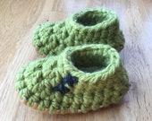 Moss Green Slip-On Slippe...