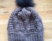 Touque Hat with Faux Fur ...